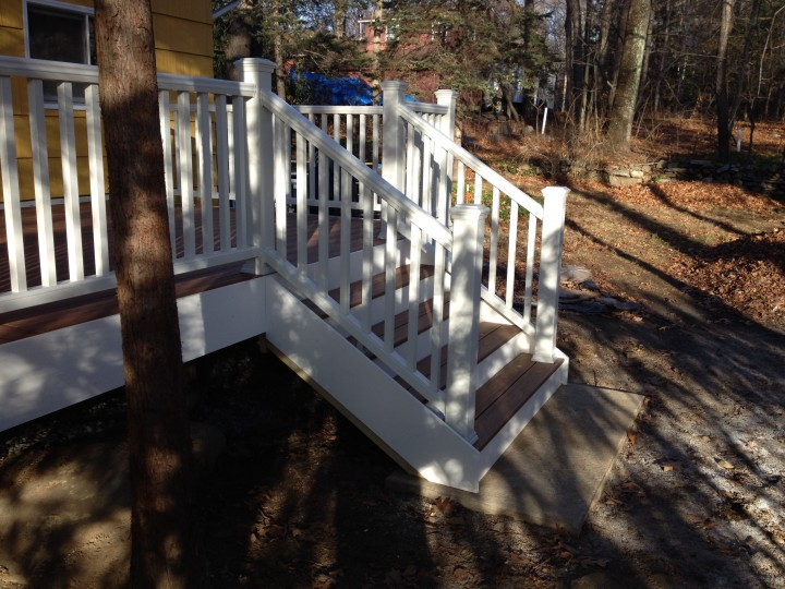 Project: Build a TREX Composite Deck in New Milford, CT