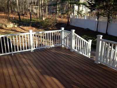 Deck construction in Bethel by Allure Home Improvement & Remodeling, LLC