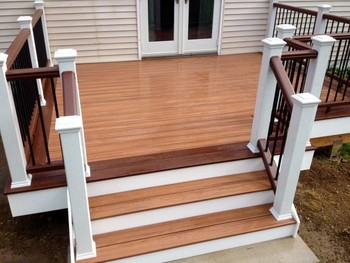 Multi Colored Deck Project in New Milford, CT