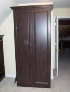 Built Custom Closet System with crown molding