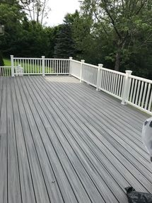 Before and After Deck Installation Using TREX COMPOSITE MATERIALS in Bethel, CT (6)