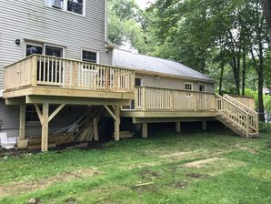Before & After New Pressure Treated Deck Build in Danbury, CT (2)